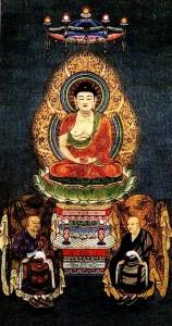 Shakyamuni Buddha, Eihei Dogen Zenji, Keizan Jokin Zenji - Founders of Soto Zen